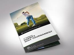 Charity Golf Tournament Brochure Word Publisher Template By