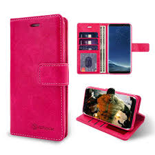 iShock Samsung Galaxy S8 <b>PU Leather Wallet Case</b> - Pink ...