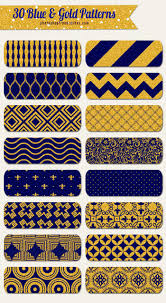 Blue And Gold Design Gold Seamless Patterns With Blue Backgrounds Free To