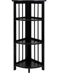 features romantic space saving folding. 3-Shelf Corner Folding Bookcase, Black Features Romantic Space Saving Folding