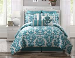teal bedroom furniture. Teal Bedding With Beautiful Pattern And Pillows A Bed Furniture White Headboard Wooden Bedroom U