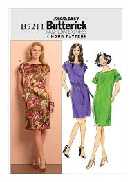 Mccalls Patterns Fascinating B48 Misses' Pullover Dresses And Belt Sewing Pattern Butterick