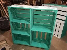 diy pallet crate shelves
