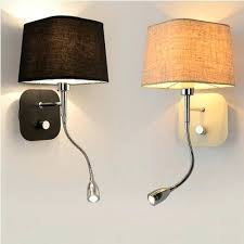 lighting bedroom wall sconces. Reading Light Sconce Bedroom Sconces Fresh Creative Fabric Wall Band Switch Modern Led Lighting