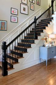 black riser instead of black tread painted stairs stacyjacobiinteriors