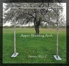 diy aspen wedding arch kit rustic wedding arch for indoor or outdoor weddings included