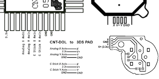 wiring up 3ds sticks to your controller bitbuilt giving life printer friendly 3ds nub to cstick gamecube joystick finished diagram png