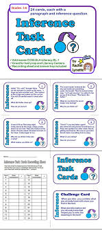 Inference Task Cards - Making Inferences Reading Strategy ...