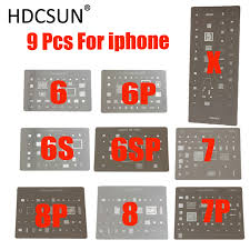 9pcs/lot ! <b>high quality BGA Reballing</b> Stencil dedicate kit for iPhone ...