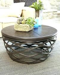coffee tables metal round coffee table frame with wood top legs metal round coffee table