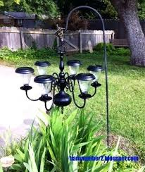 diy outdoor solar chandelier a chandelier from a thrift into a outdoor solar light chandelier