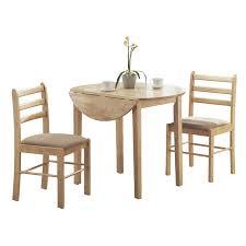 3 Piece Dining Set Monarch Elba 3 Piece Dining Table Set Hayneedle