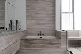 modern bathroom stone slab walls
