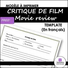 Film Review Template Awesome Movie Review Template Teaching Resources Teachers Pay Teachers