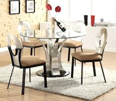 modern round dining table set glass top