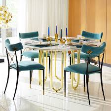 marble dining room furniture. View In Gallery Carrara Marble And Brass Dining Table From Jonathan Adler Room Furniture N