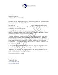 Real Estate Letters Of Introduction Letter Agent Sample Personal ...