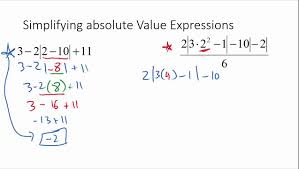 simplifying absolute value expressions