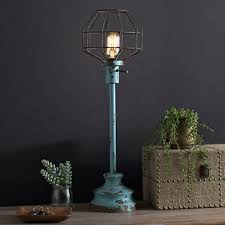 table lamps lighting. distressed turquoise edison bulb table lamp lamps lighting