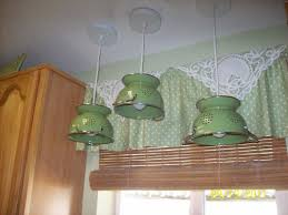 small kitchen decoration using vintage round green kitchen sink