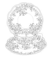 Elegant Tea Party Coloring Book Books Parties And Teas For Pages