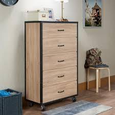 Weathered Oak Furniture Acme Furniture Bemis 5 Drawer Weathered Light Oak Chest 97274