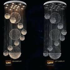 spiral crystal chandelier double