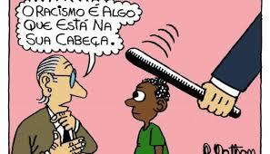 Resultado de imagem para racismo no brasil charge