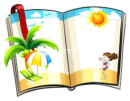 Open Book With Beach Design Template Monster Free – Helenamontana.info