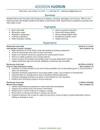 Warehouse Worker Resume Magnificent Trending Warehouse Worker Resume No Experience Associate Best Of