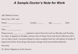 Drs Note For Missing Work Creating Fake Doctors Note Excuse Slip 12 Templates For Word