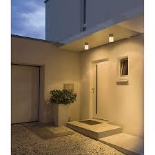 ROX ACRYL C, outdoor ceiling light, TC-(D,H,T,Q)SE, IP44, brushed  aluminium, max. 20W