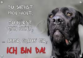 Hunde Warnschild Cane Corso Metallschild Top Tipp Trauer Cane