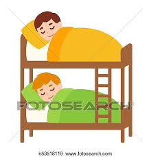 kids bed clip art. Fine Clip Clip Art  Kids Sleeping In Bunk Bed Fotosearch Search Clipart  Illustration Posters To Bed K