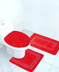 red bathroom rug set red bath rugs sets