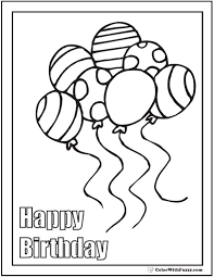 While Printable Birthday Balloon Coloring Pages Dreamject Org