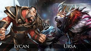 dota 2 lycan vs ursa one click battle youtube