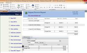 vehicles maintenance records car and vehicle maintenance access database management repair