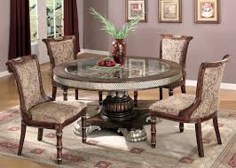 Glass Dining Table Round Traditional Round Glass Dining Table Invisifilecom