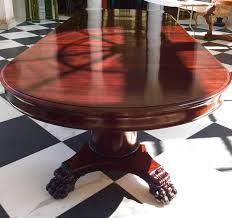 empire in design this magnificent round split pedestal banquet table will expand with four original 24