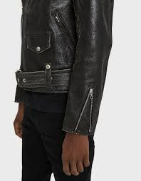 blackmeans riders jacket in black by john elliott