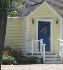 Creativity White Front Door Yellow House Grabbing Attention At The How To With Design