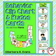 Classroom Management Chart Behavior Clip Chart Classroom Management Blue Green Theme Classroom Decor