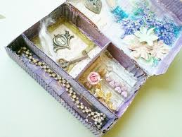 Decorative Jewelry Gift Boxes Turning A Cardboard Shoe Box Into Decorative Jewelry Storage 25