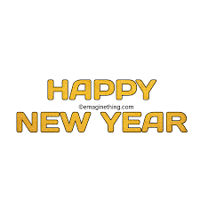 HAPPY NEW YEAR TEXT PNG 2019-Whatsapp Sticker,Download