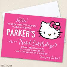 Hello Kitty Party Invitation Hello Kitty Birthday Invitations