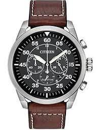 amazon co uk citizen watches citizen avion men s quartz watch black dial analogue display and brown leather strap ca4210 24e