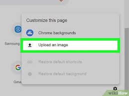 how to change your google background