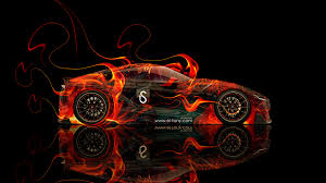 toyota ft 1 fire abstract car