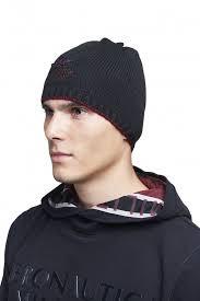 Мужская <b>шапка Aeronautica Militare</b> чёрная с красным кантом